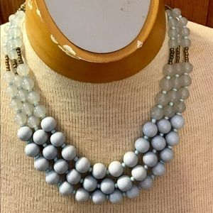 Light blue fashion pearl necklace